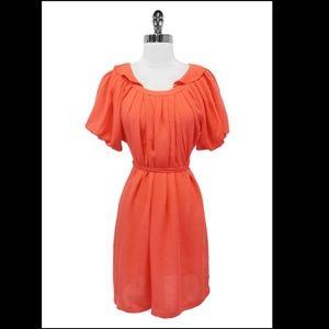 100% SILK orange   dress
